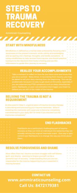 Important Steps to Trauma Recovery – Ammirati Counseling