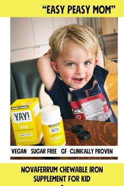 NovaFerrum Chewable Iron Supplement for Kids (90 count)