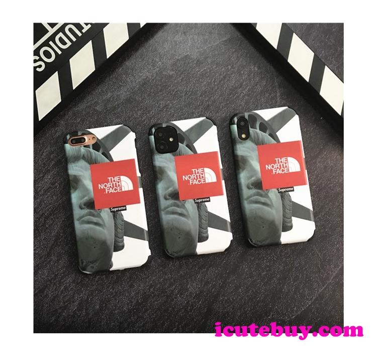 The North Face Supreme コラボ iPhone11 Proケース iPhone11ケース ノースフェイス iPhoneXSケース シ ...
