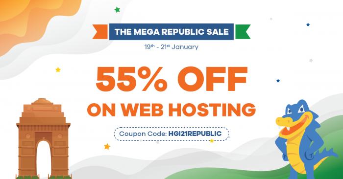 HostGtaor Republic Day Sale 2021 – Get Up to 55% Discount on Web Hosting