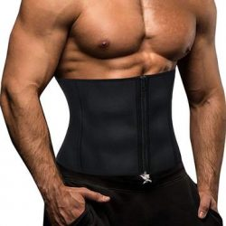 Men Waist Trainer Slimming Belt Neoprene Fat Burner Sweat Trimmer
