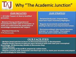 Why The Academic Junction