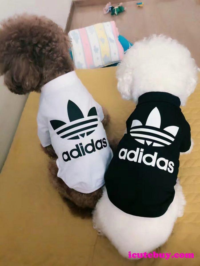アディダス ドッグウェア Tシャツ 可愛い Adidas 犬シャツ 白 黒 ADIDAS 小型犬服 中型犬服 大型犬服  ...