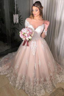 Wunderschöne Hochzeitskleider Mit Ärmel | Brautkleider A Linie Spitze