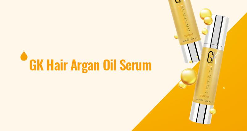 GK Hair Serum – Argan Oil Infused Elixir for Shiny Hair