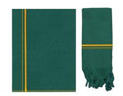 Dark Green Kavi Dhoti + Kavi Towel Set – Arul Set Kavi