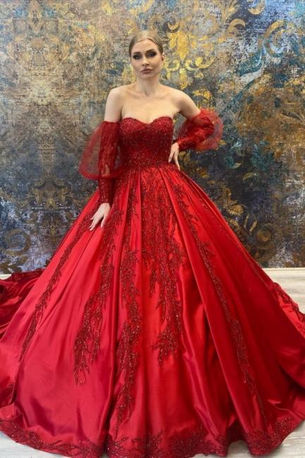 Luxus Hochzeitskleider Rot   Prinzessin Brautkleider Online Kaufen