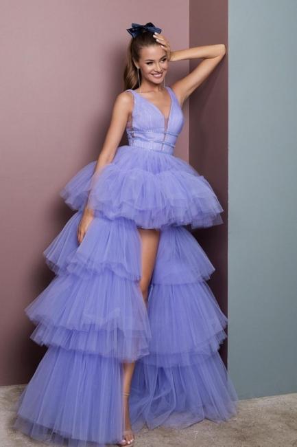 Abendkleid Lang V Ausschnitt   Abiballkleider Günstig Online