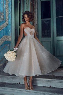 Wunderschöne Brautkleider Kurz | Hochzeitskleider Glitzer Günstig
