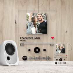 Custom Spotify Code Acrylic Music Plaque & Keychain Set Personalized Photo Decoration
