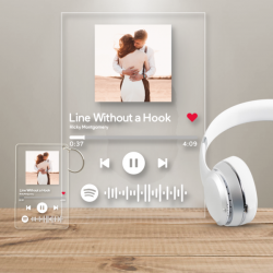 Spotify Glass Custom Music Plaques Scannable Spotify Code Frame With A Free Same Design Keychain ...