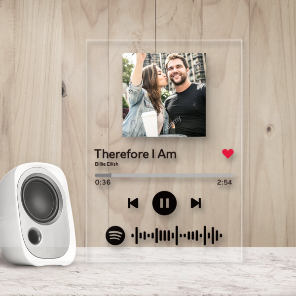 Custom Spotify Scan Song Music Album Acrylic Plaque Poster Personalized Photo