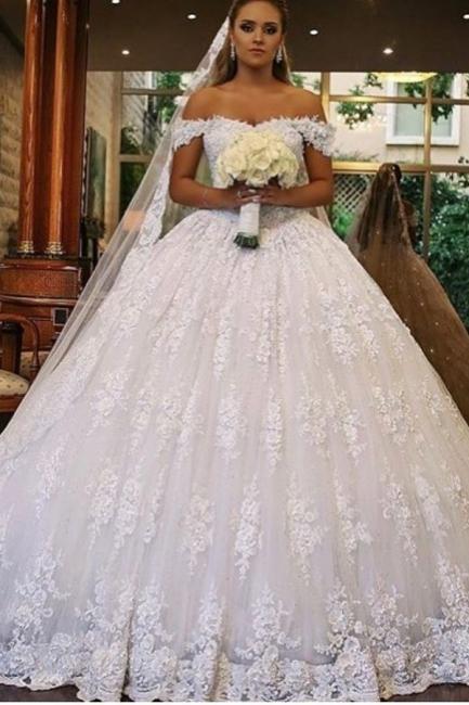 Luxus Brautkleider mit Spitze | Prinzessin Hochzeitskleider Günstig