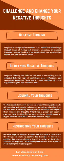Challenge and Change Your Negative Thoughts