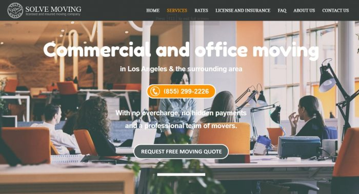 Commercial movers Los Angeles