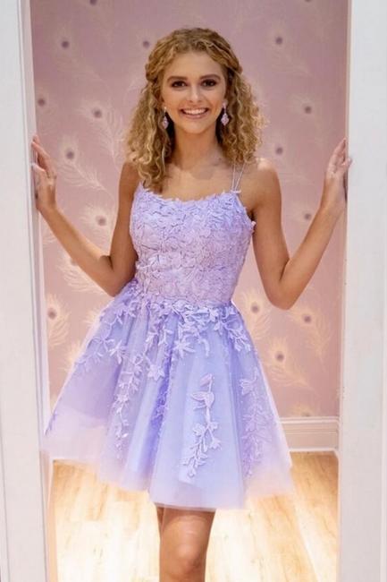 Schlichtes Abendkleid   Lavender Cocktailkleider Kurz