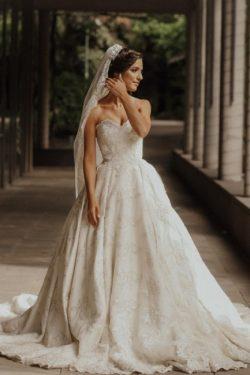 Luxus Brautkleid A Linie | Hochzeitskleider Spitze