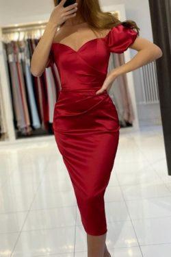 Rote Cocktailkleider Partykleider | Abendkleider Kurz Günstig