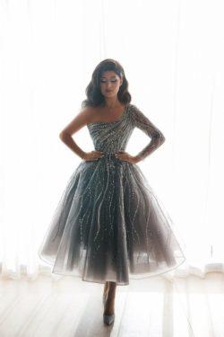 Luxus Abendkleider Kurz | Cocktailkleider Abiballkleider mit Glitzer
