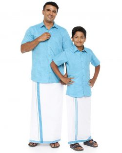 Varna Father & Son Light Blue Combo Sets