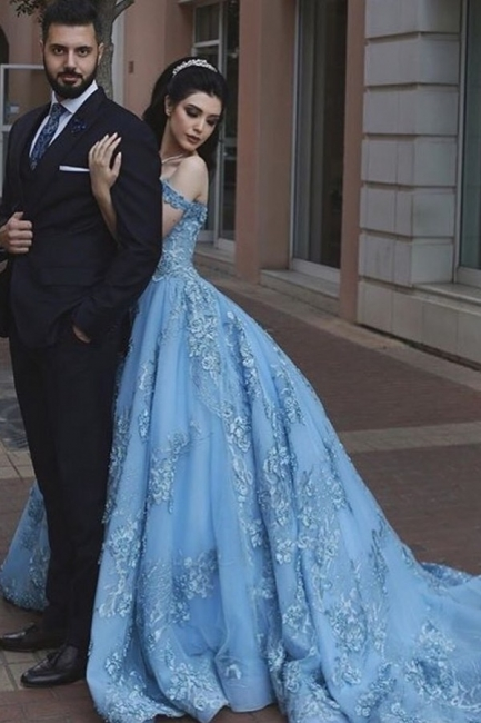 Blaue Abendkleider Lang Günstig | Abiballkleider mit Spitze