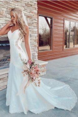 Schöne Brautkleider Meerjungfrau | Hochzeitskleider mit Spitze