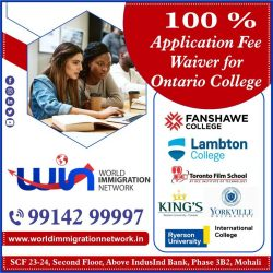 100 % Application Fee Waiver For Ontario Colleges.