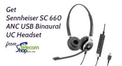 Get Sennheiser SC 660 ANC USB Binaural UC Headset from The Telecom Shop PTY Ltd