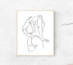Minimalist Female Art