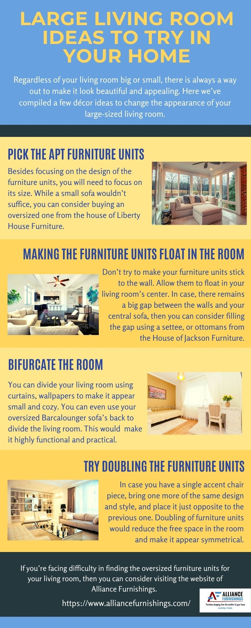 Large Living Room Ideas To Try In Your Home