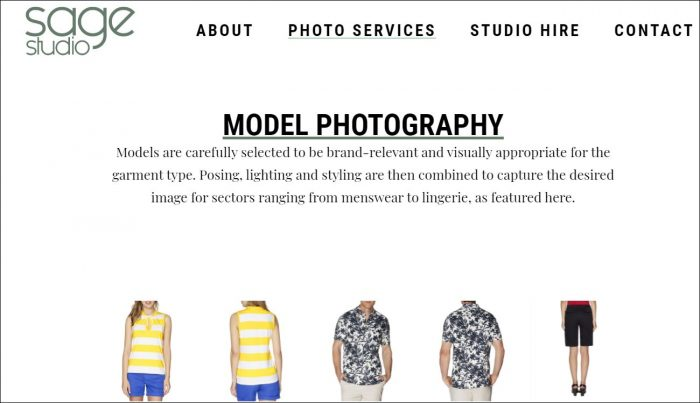 Model photography London
