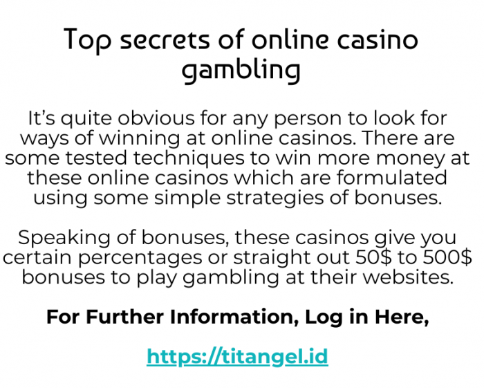 Why a reputed online casino is much better