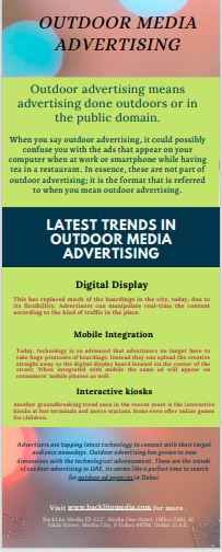Latest Trends in Outdoor Media Advertising
