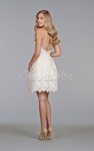 Robe de mariée bref facile ligne a sans dos de bustier – GoodRobe