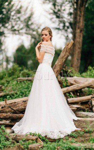 Robe de mariée naturel a plage col en forme de cœur fermeutre eclair manche nulle – GoodRobe