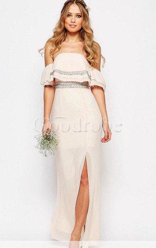 Robe demoiselle d'honneur luxueux facile fermeutre eclair de bustier de lotus – GoodRobe