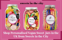 Shop Personalised Vegan Sweet Jars in the UK from Sweets in the City
