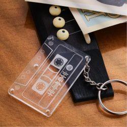 Spotify Code Tape Keychain