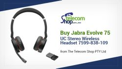 Buy Jabra Evolve 75 UC Stereo Wireless Headset 7599-838-109 from The Telecom Shop PTY Ltd