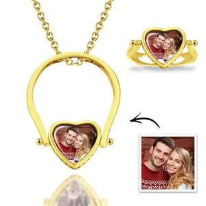 A photo engraved necklace is a great gift for either