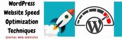 WordPress Website Speed Optimization Techniques 2021