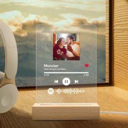 Spotify Glass Custom Spotify Code Night Light Acrylic Lamp – 5.9IN X 7.7IN