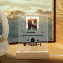 Custom Spotify Code Acrylic 3D Night Light Personalized Photo