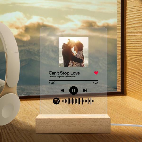 Custom Spotify Code Acrylic 3D Night Light Personalized Photo