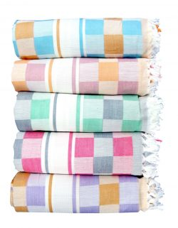 Yathvika Big Checked Cotton Colour Towel