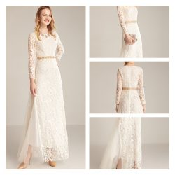 White Lace Prom Dresses Online from SheinProm