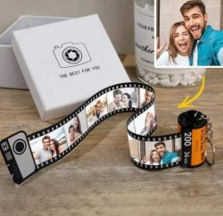 Custom Camera Roll Keyring Personalized Multiphoto Personal Film Roll 5-20 Pictures