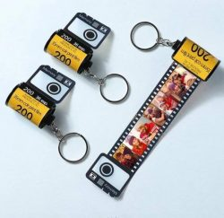 Custom Camera Roll Keyring Multiphoto Colorful Keychain Creative Gifts kodak keychain