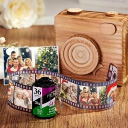 Fuji Film Roll keychain Custom Recycled Camera Roll Multiphoto Gifts for Family