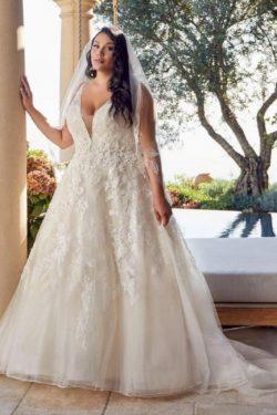 Brautkleider Große Größe A Linie | Übergroße Hochzeitskleider Spitze